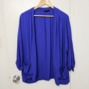 Babaton royal blue lightweight blazer cardigan